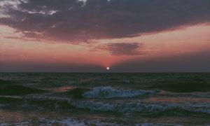 落日黄昏海上美景风光摄影高清图片