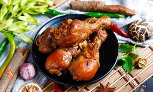 卤鸡腿美食高清摄影图片