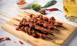 羊肉串美食高清摄影图片