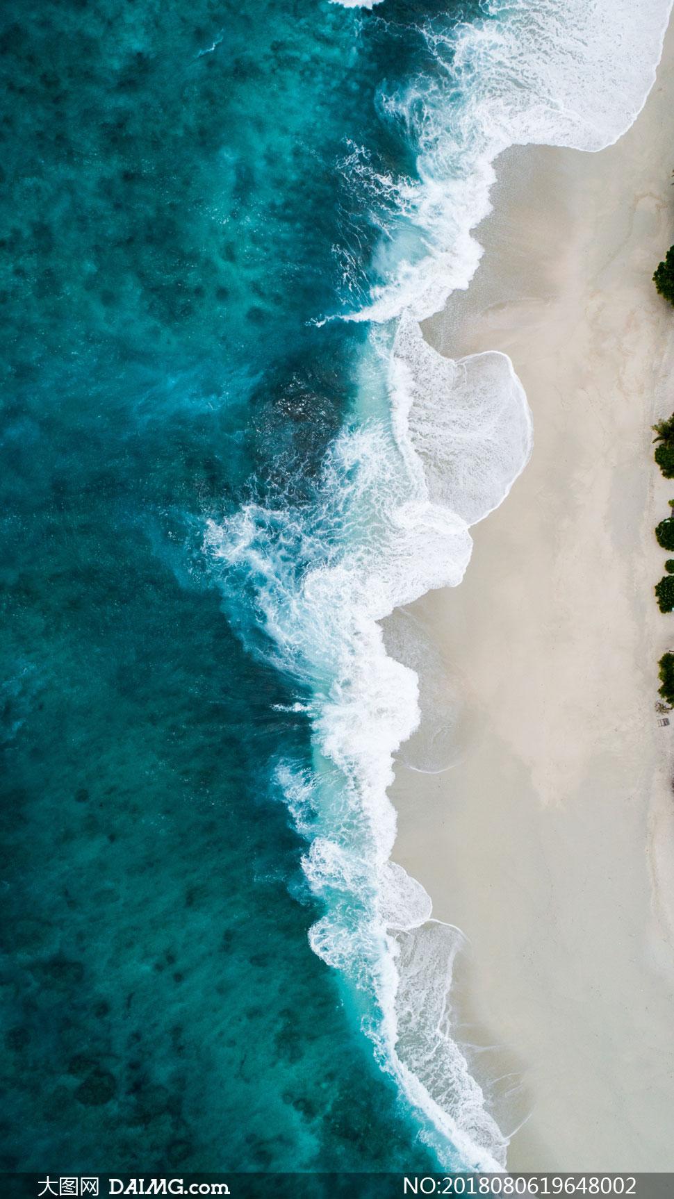 词: 高清摄影大图图片素材自然风景风光大海海水海景海面水面沙滩海滩