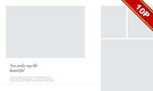 簡約多照片拼貼風婚紗寫真模板V01