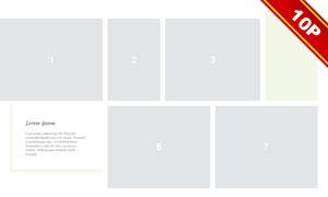 簡約多照片拼貼風婚紗寫真模板V04
