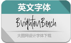 BrightonBeach-Regular(英文字体)