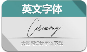 Ceremony-Regular(英文字体)