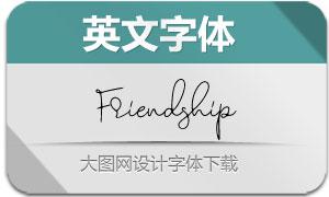 Friendship-Regular(英文字体)