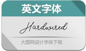 Hardwired-Regular(英文字体)