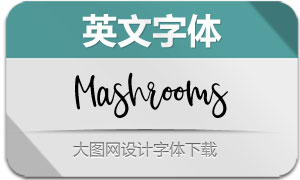 Mashrooms-Regular(英文字体)