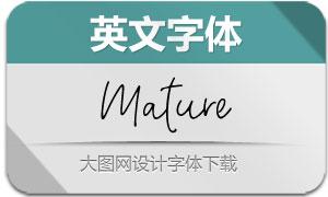 Mature-Regular(英文字体)