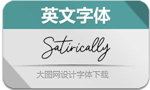 Satirically-Regular(英文字体)