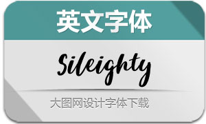 Sileighty-Regular(英文字体)