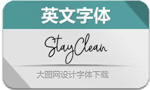 StayClean-Regular(英文字体)
