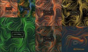热力感应多彩线条抽象背景矢量素材
