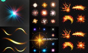 耀眼夺目的光效设计元素矢量素材V1