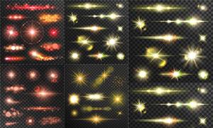 耀眼夺目的光效设计元素矢量素材V4