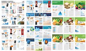 互联网与能源等信息图创意矢量素材