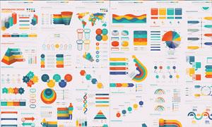 五彩缤纷效果的信息图创意矢量素材