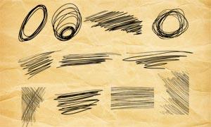 咱乱的线条装饰PS笔刷