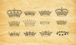 皇冠和头巾头饰PS笔刷