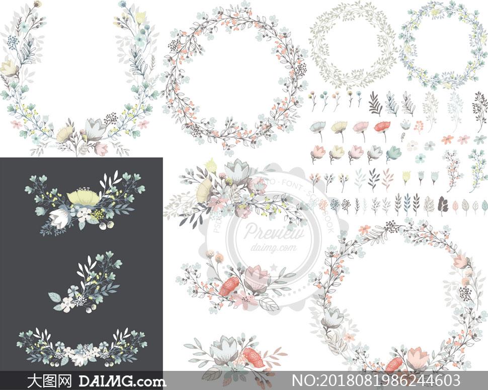 关 键 词: 矢量素材矢量图设计素材创意设计花草边框花边圆形花朵
