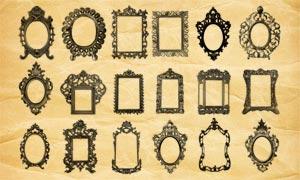 花式相框和古典边框PS笔刷