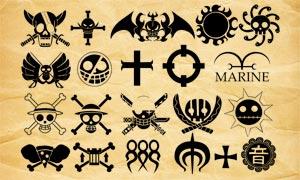 海賊王圖標和海盜旗PS筆刷