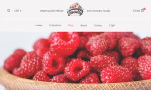 冷鏈蔬菜生鮮電商網站設計分層模板