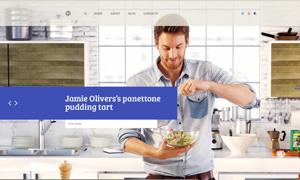 餐飲美食主題網站頁面設計分層模板