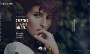 攝影工作室等適用網站頁面設計模板