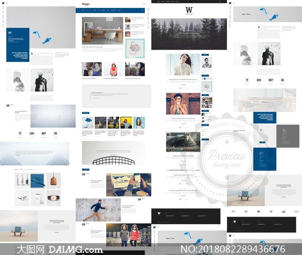 个人工作室静态网页模板_创意工作室与个人用网站模板源文件 - 大图网素材daimg.com