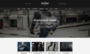 時尚服飾線上商城網站設計模板文件