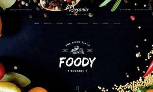 美食餐厅主题网站页面设计分层模板