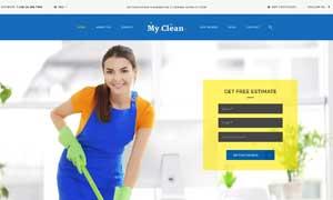 家政清潔服務網站頁面設計分層模板