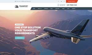 貨物運輸公司網站頁面設計分層模板