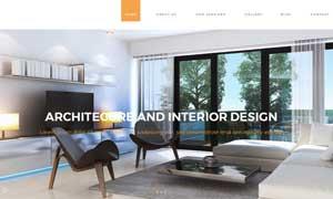 裝飾裝潢工程公司網站設計分層模板