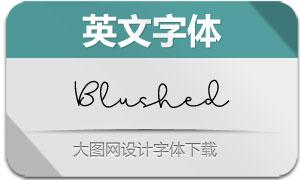 Blushed(英文字体)