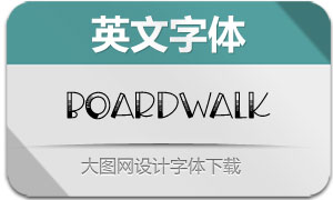 Boardwalk(英文字体)