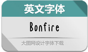 Bonfire(英文字体)