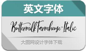 ButtermilkFarmhouse-It(英文字体)