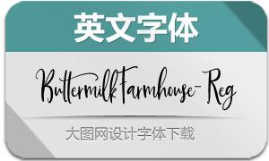 ButtermilkFarmhouse-Rg(英文字体)