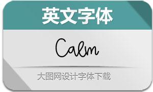 Calm(英文字体)