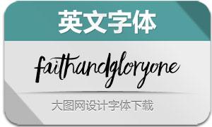 FaithAndGloryOne(英文字体)