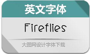 Fireflies(英文字体)