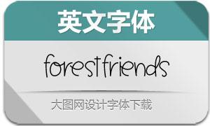 ForestFriends(英文字体)