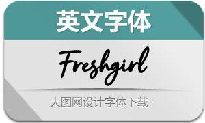 Freshgirl(英文字体)