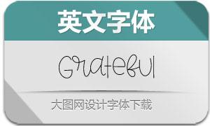 Grateful(英文字体)