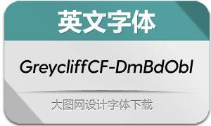 GreycliffCF-DemiBoldOblique(英文字体)