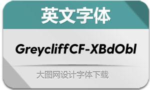 GreycliffCF-ExtraBoldObl(英文字体)