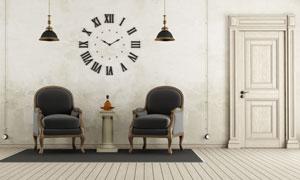 房间里的欧式风格家具摄影高清图片