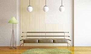 房间沙发灯具渲染效果设计高清图片
