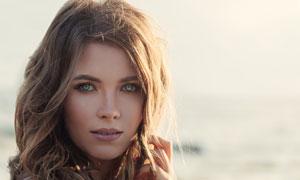 毛衣开衫长发美女人物摄影高清图片